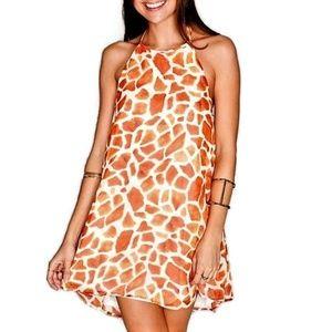 Show Me Your MuMu Dress Mini Giraffe Lined M